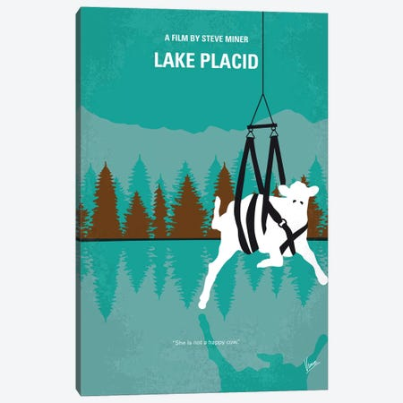 Lake Placid Minimal Movie Poster Canvas Print #CKG1143} by Chungkong Canvas Art Print