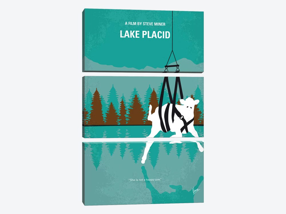 Lake Placid Minimal Movie Poster by Chungkong 3-piece Canvas Print