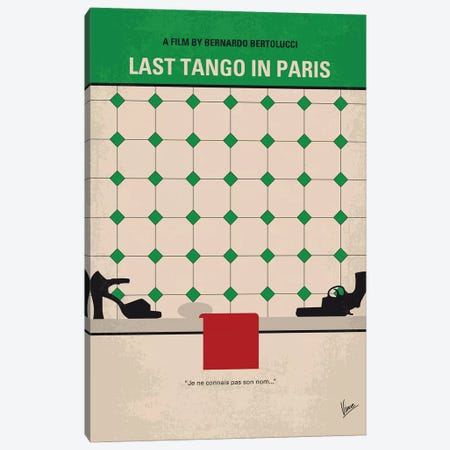 Last Tango In Paris Minimal Movie Poster Canvas Print #CKG1145} by Chungkong Canvas Wall Art