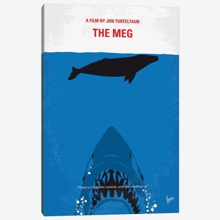 Meg Minimal Movie Poster Canvas Print #CKG1149} by Chungkong Art Print