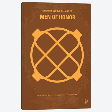 Men Of Honor Minimal Movie Poster Canvas Print #CKG114} by Chungkong Canvas Artwork