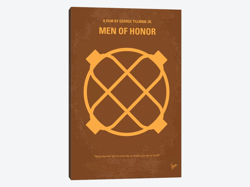 Men Of Honor Minimal Movie Poster by Chungkong 1-piece Art Print