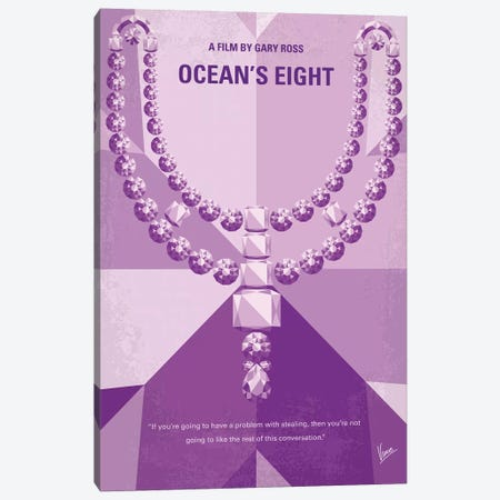 Oceans Eight Minimal Movie Poster Canvas Print #CKG1153} by Chungkong Canvas Wall Art
