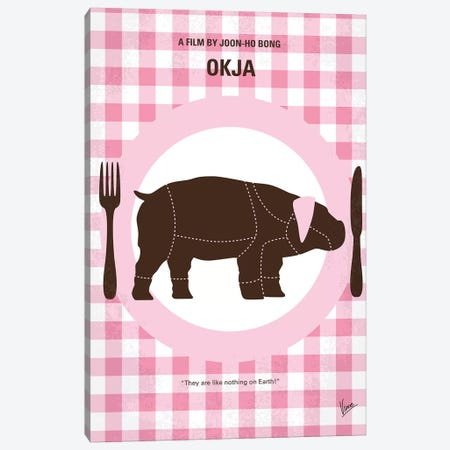 Okja Minimal Movie Poster Canvas Print #CKG1154} by Chungkong Canvas Print