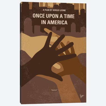 Once Upon A Time In America Minimal Movie Poster Canvas Print #CKG1155} by Chungkong Art Print