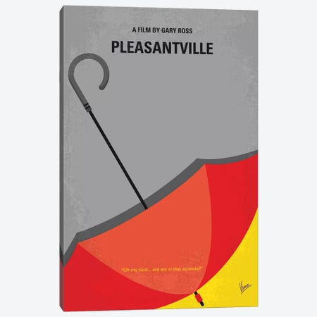 Pleasantville Minimal Movie Poster Canvas Print #CKG1157} by Chungkong Art Print