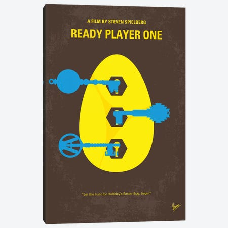 Ready Player One Minimal Movie Poster Canvas Print #CKG1159} by Chungkong Canvas Art