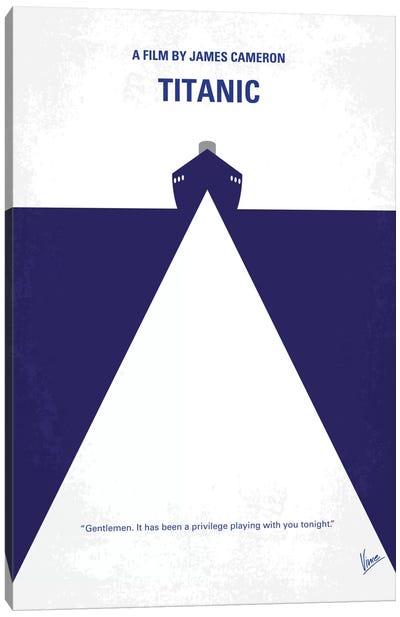 Titanic Minimal Movie Poster Canvas Art Print