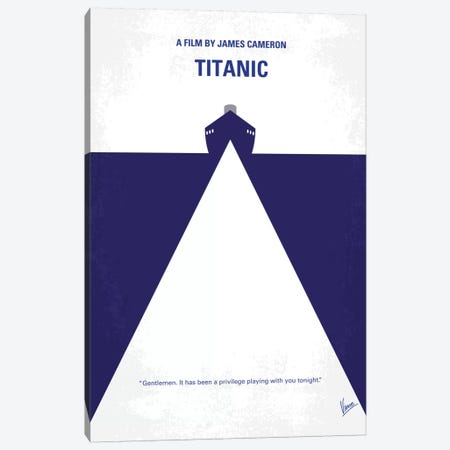 Titanic Minimal Movie Poster Canvas Print #CKG115} by Chungkong Canvas Artwork