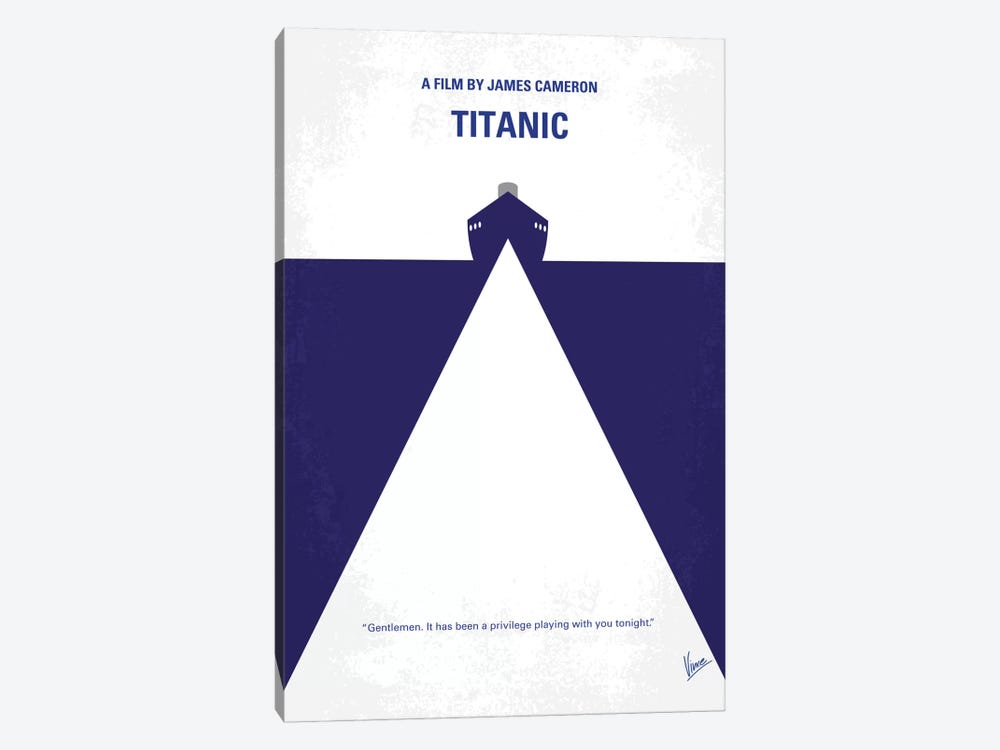 Titanic Minimal Movie Poster by Chungkong 1-piece Canvas Wall Art