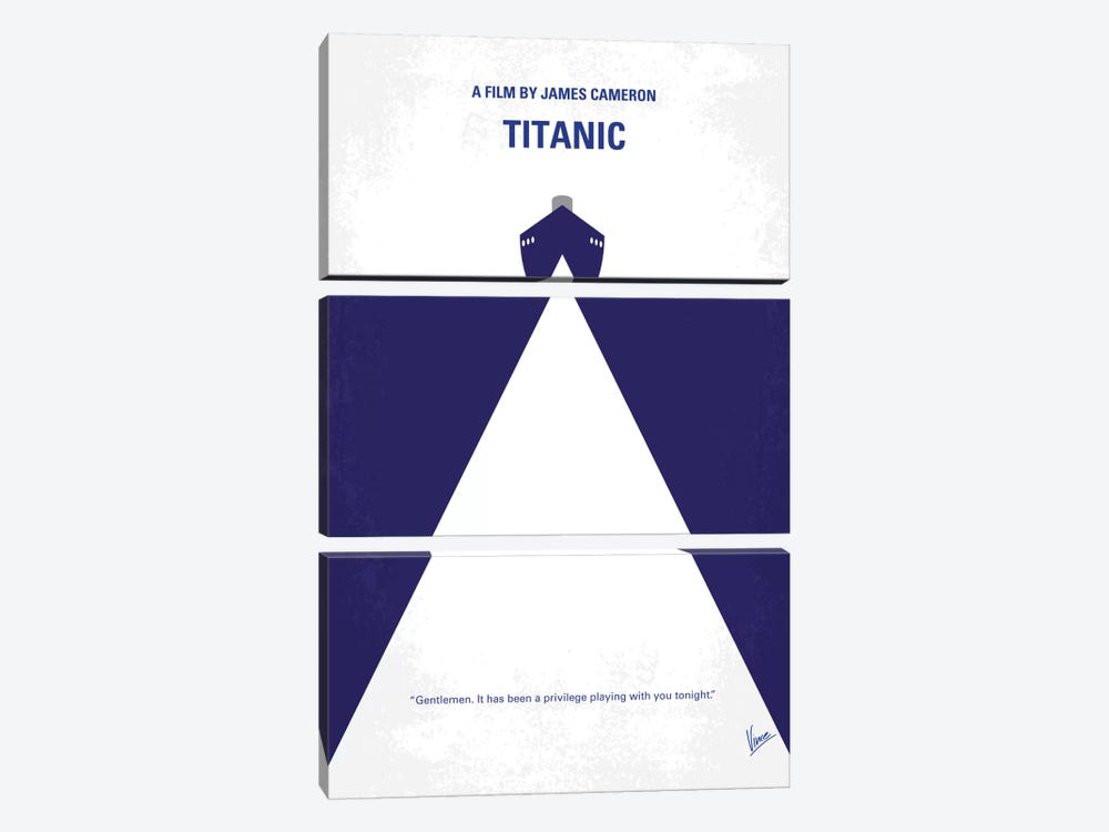 Titanic Minimal Movie Poster by Chungkong 3-piece Canvas Wall Art