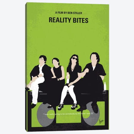 Reality Bites Minimal Movie Poster Canvas Print #CKG1160} by Chungkong Art Print
