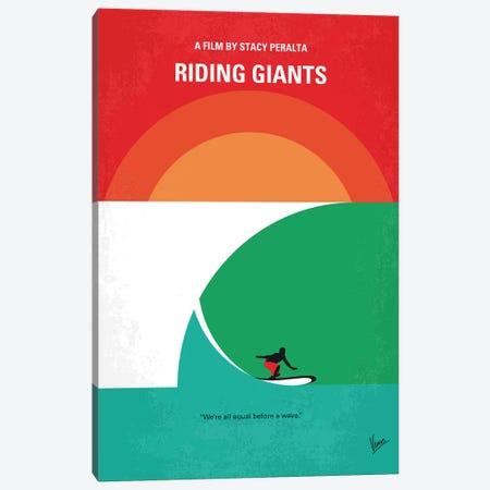 Riding Giants Minimal Movie Poster Canvas Print #CKG1163} by Chungkong Canvas Art Print