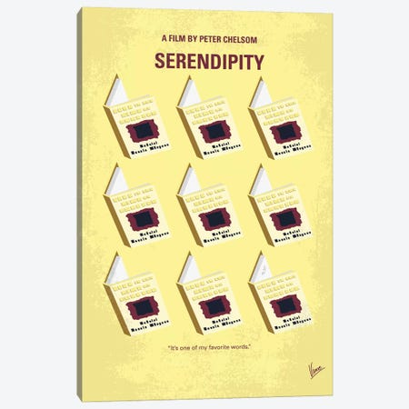 Serendipity Minimal Movie Poster Canvas Print #CKG1164} by Chungkong Canvas Art