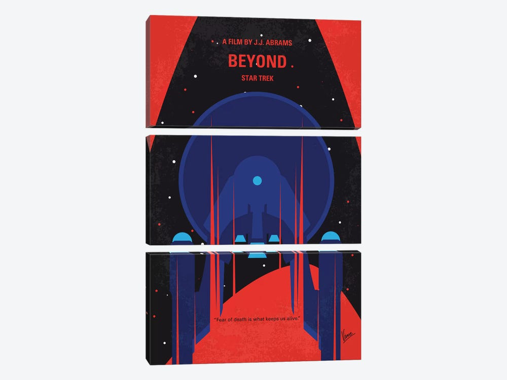 St Beyond Minimal Movie Poster by Chungkong 3-piece Canvas Print