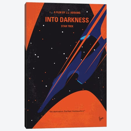 St Into Darkness Minimal Movie Poster Canvas Print #CKG1166} by Chungkong Canvas Wall Art
