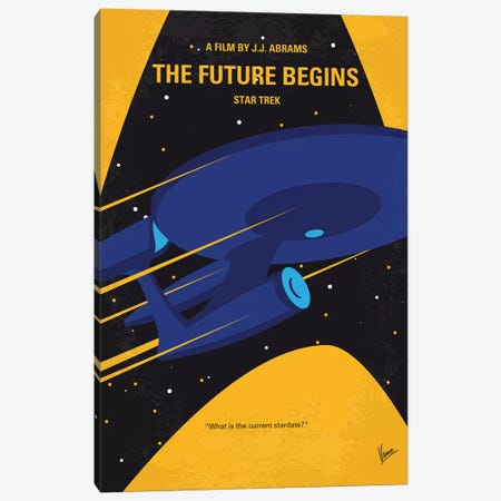 St The Future Begins Minimal Movie Poster Canvas Print #CKG1167} by Chungkong Canvas Artwork