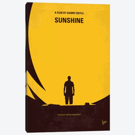 Sunshine Minimal Movie Poster Canvas Print #CKG1168} by Chungkong Canvas Print