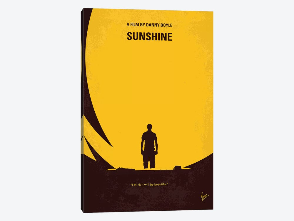 Sunshine Minimal Movie Poster by Chungkong 1-piece Canvas Artwork
