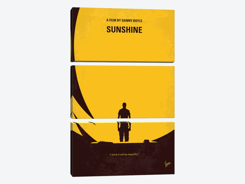 Sunshine Minimal Movie Poster by Chungkong 3-piece Canvas Art