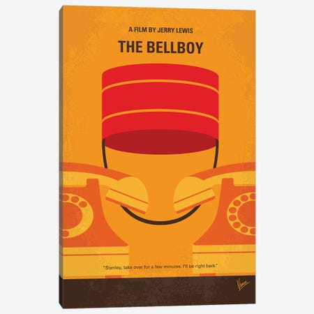The Bellboy Minimal Movie Poster Canvas Print #CKG1169} by Chungkong Canvas Art Print