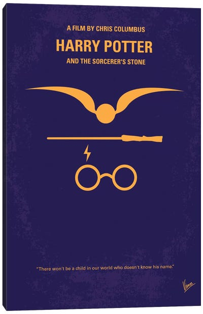 Harry Potter And The Sorcerer's Stone Minimal Movie Poster Canvas Art Print