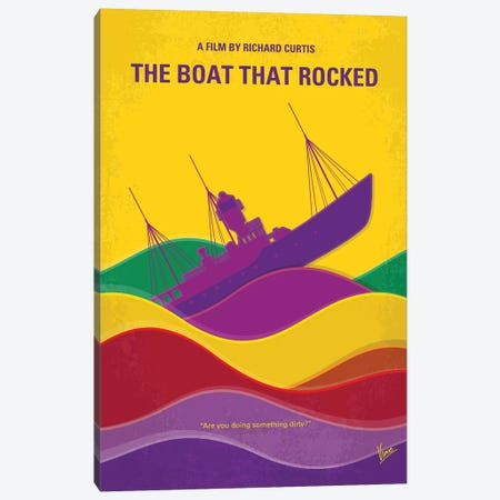 The Boat That Rocked Minimal Movie Poster Canvas Print #CKG1170} by Chungkong Canvas Art