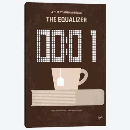 The Equalizer Minimal Movie Poster Canvas Print #CKG1174} by Chungkong Canvas Art Print