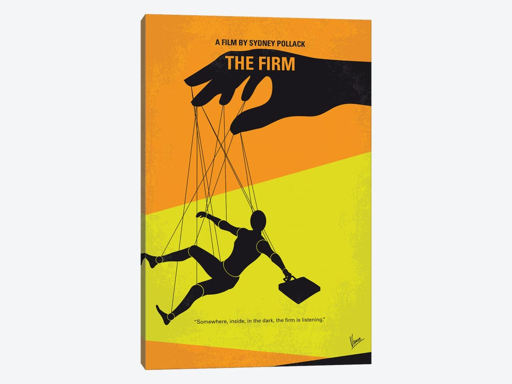 The Firm Minimal Movie Poster by Chungkong 1-piece Canvas Artwork
