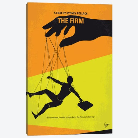 The Firm Minimal Movie Poster Canvas Print #CKG1175} by Chungkong Art Print