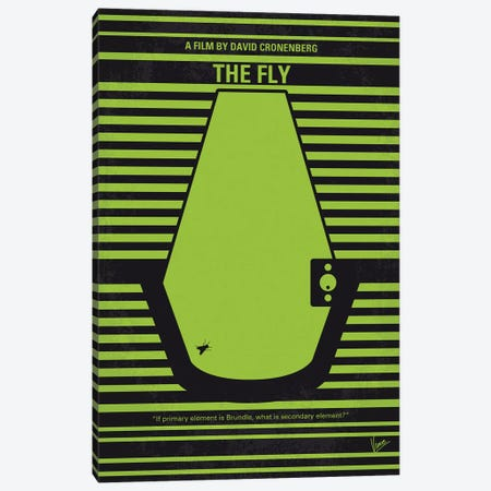 The Fly Minimal Movie Poster 3-Piece Canvas #CKG1176} by Chungkong Canvas Print