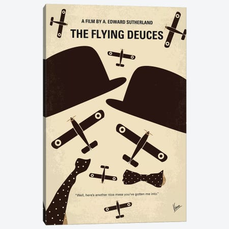 The Flying Deuces Minimal Movie Poster Canvas Print #CKG1177} by Chungkong Art Print