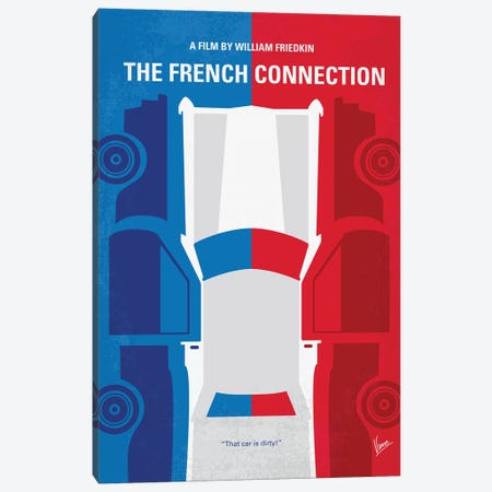 The French Connection Minimal Movie Poster Canvas Print #CKG1178} by Chungkong Canvas Wall Art