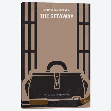 The Getaway Minimal Movie Poster Canvas Print #CKG1179} by Chungkong Canvas Art