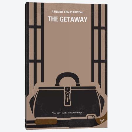 The Getaway Minimal Movie Poster Canvas Print #CKG1179} by Chungkong Canvas Art