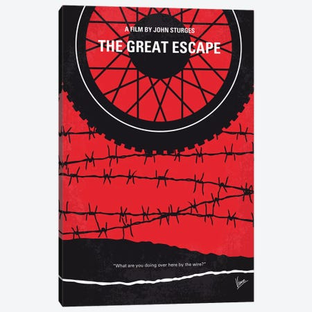 The Great Escape Minimal Movie Poster Canvas Print #CKG1180} by Chungkong Canvas Art Print