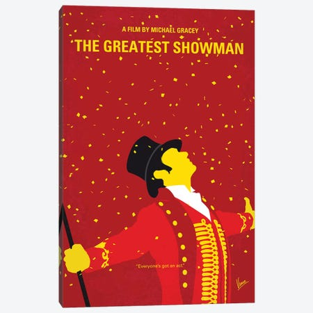 The Greatest Showman Minimal Movie Poster Canvas Print #CKG1181} by Chungkong Art Print