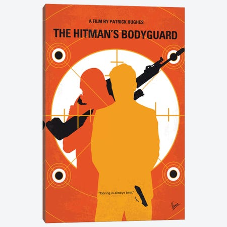 The Hitmans Bodyguard Minimal Movie Poster 3-Piece Canvas #CKG1182} by Chungkong Canvas Print