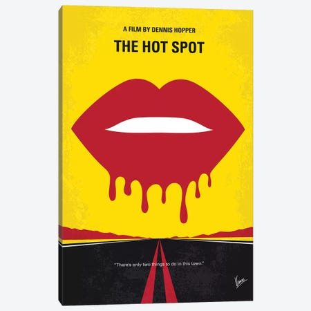 The Hot Spot Minimal Movie Poster Canvas Print #CKG1183} by Chungkong Canvas Art Print