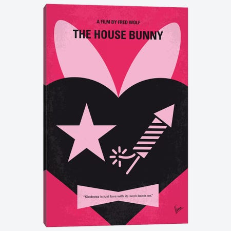 The House Bunny Minimal Movie Poster Canvas Print #CKG1184} by Chungkong Canvas Wall Art