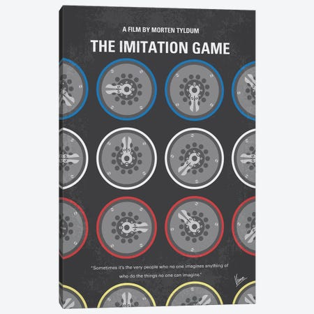 The Imitation Game Minimal Movie Poster Canvas Print #CKG1185} by Chungkong Canvas Art
