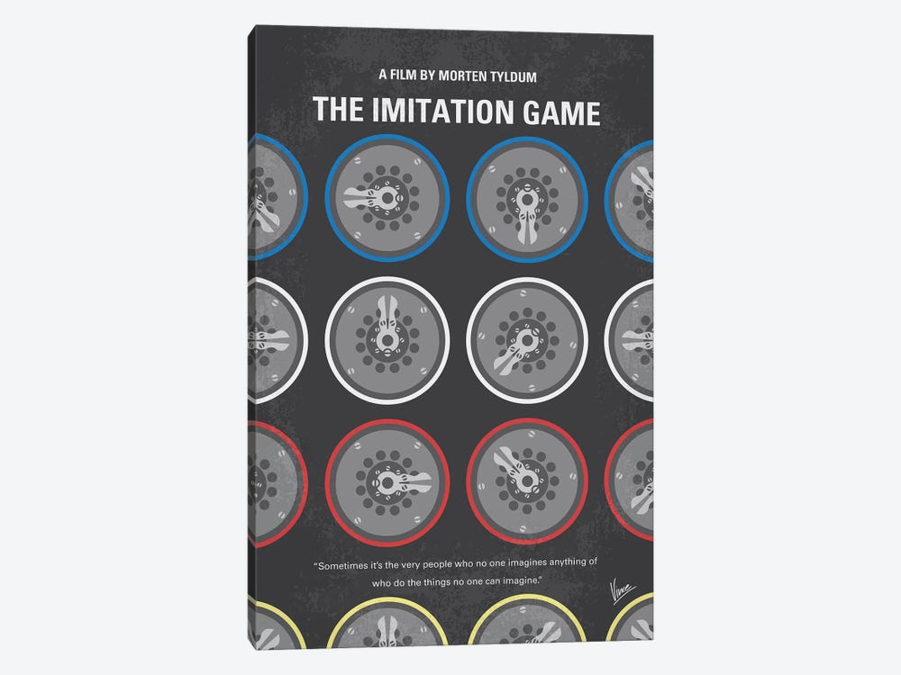 The Imitation Game Minimal Movie Poster by Chungkong 1-piece Canvas Art Print