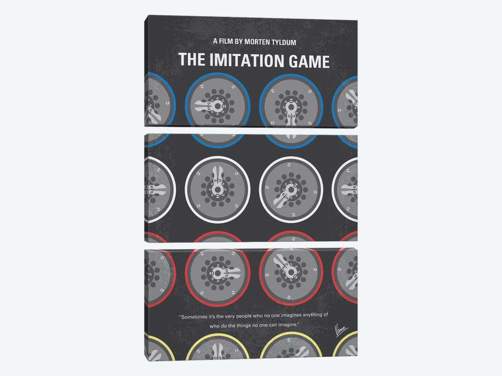 The Imitation Game Minimal Movie Poster by Chungkong 3-piece Canvas Print