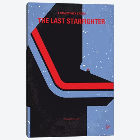 The Last Starfighter Minimal Movie Poster Canvas Print #CKG1186} by Chungkong Canvas Art