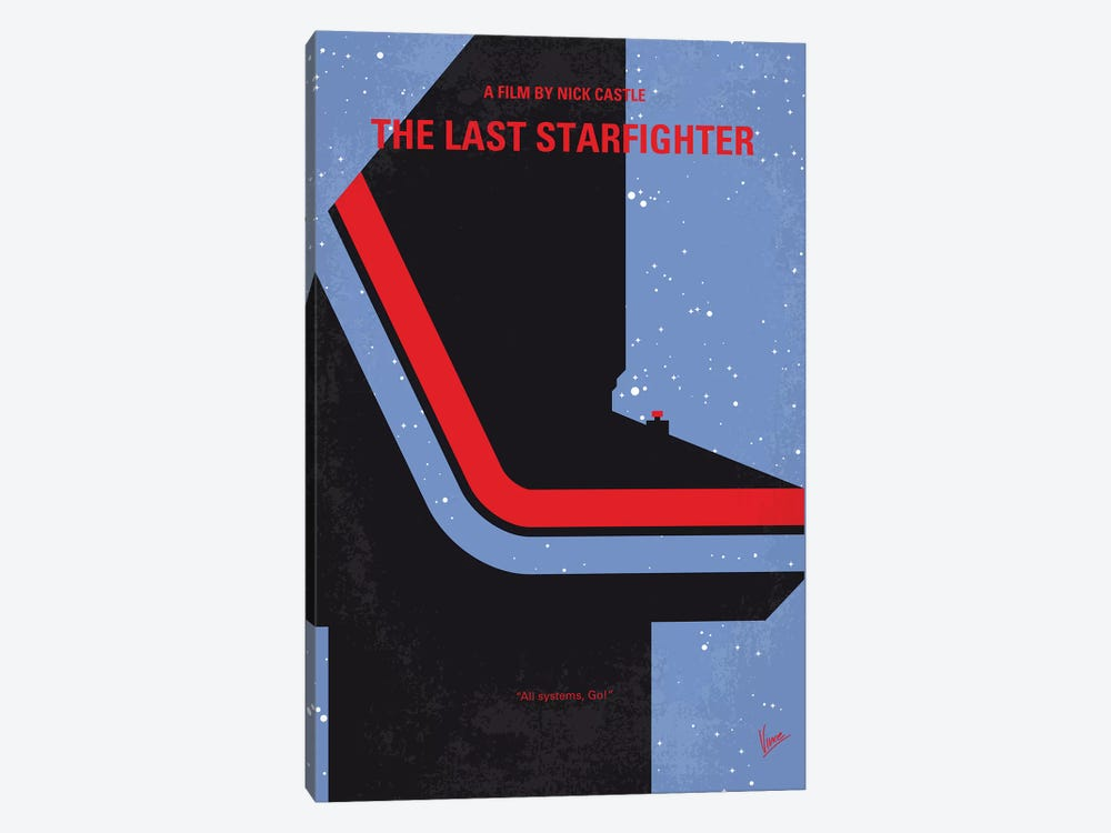 The Last Starfighter Minimal Movie Poster by Chungkong 1-piece Canvas Wall Art