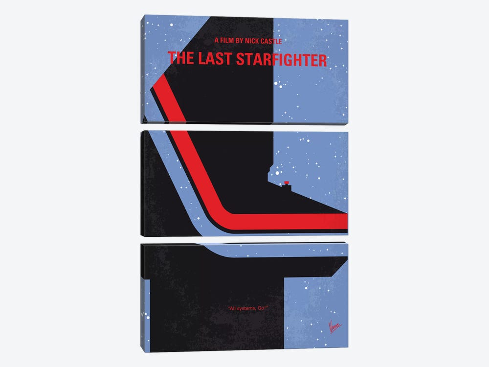 The Last Starfighter Minimal Movie Poster by Chungkong 3-piece Canvas Wall Art