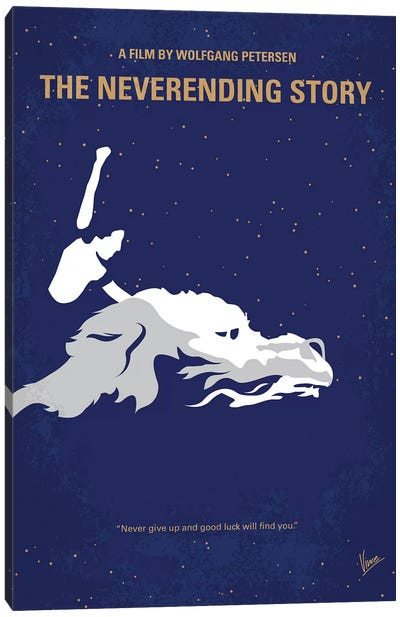 The Neverending Story Minimal Movie Poster Canvas Art Print