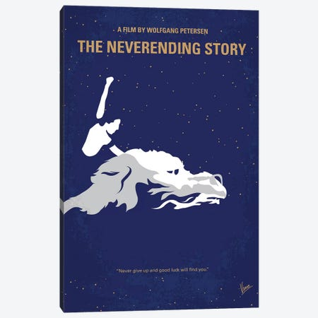 The Neverending Story Minimal Movie Poster Canvas Print #CKG1189} by Chungkong Art Print