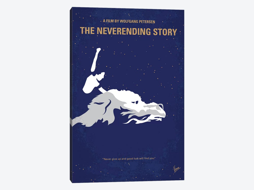 The Neverending Story Minimal Movie Poster by Chungkong 1-piece Art Print