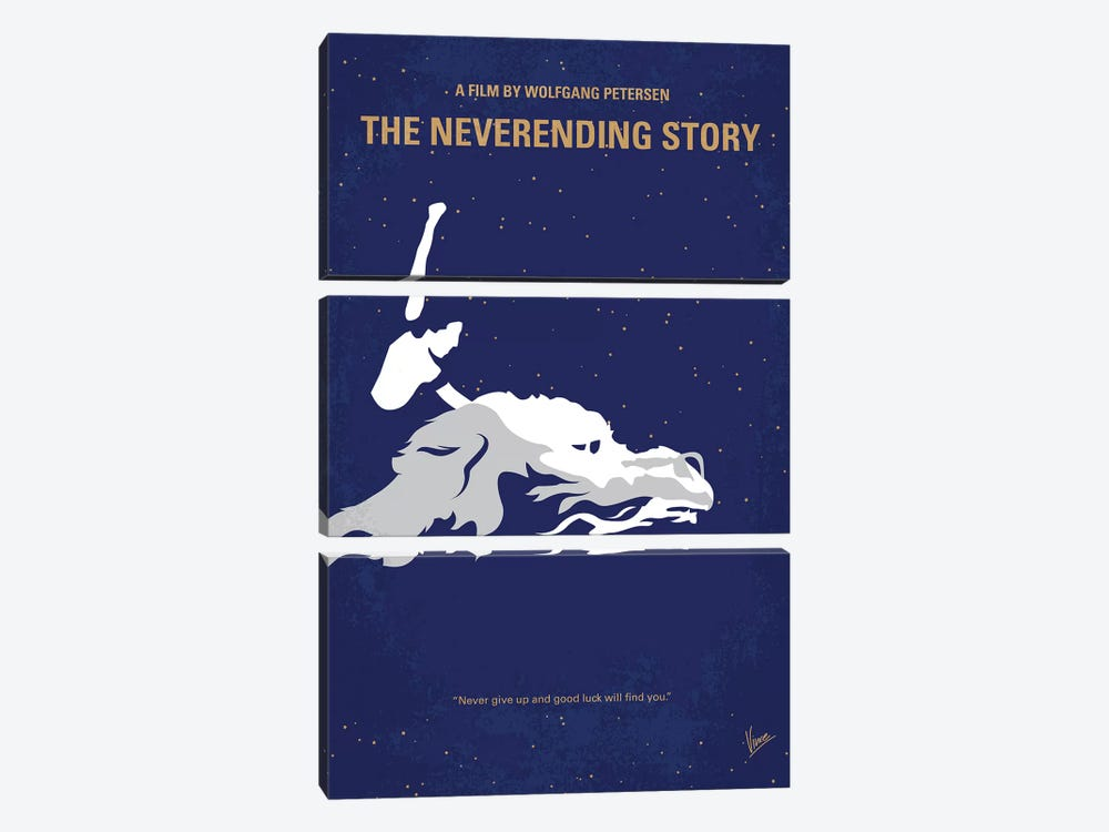 The Neverending Story Minimal Movie Poster by Chungkong 3-piece Art Print